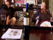 Two slutty girls getting fucked hard by old guys