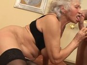Horny Grandma Fucks a Younger Guy In a Kinky Clip!