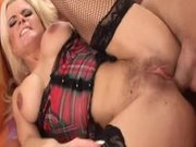 Big Nipple Blonde Sucks Dick & Gets Facial.