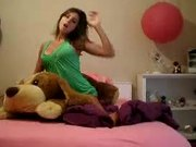 Naughty Teen Gets Naked Playing With Her Stuffed Dog