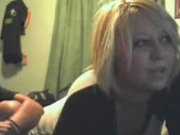 Blonde Teen Flashes Her Big Melons On A Webcam Video