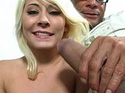 Cute Blonde Teen Gets Drilled By A Monster Cock