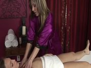 Passionate Lesbian Scene Between A Hot Masseuse And Client