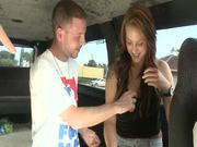 Cute Redhead gets Nailed In The Bang Bus