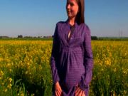 Sexy Masturbation Scene With Alka In Country Side Flower Field