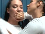 Brunette Lesbians get Steamy in the Locker Room