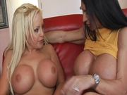 Lesbian Action With The Mega Busty Lisa Lipps And Savanah Gold