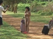 Hot Asian Sasa strips for boys on a country road