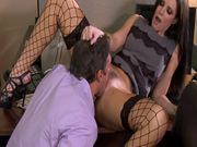 Seductive Brunette India Summer Fucks One Of Her Horny Co Workers With