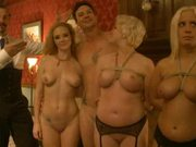 Busty Babes Getting Fucked and Dominated In Crazy BDSM Group Sex Orgy