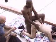 Horny Brunette Housewife Gets A Bit Of Interracial Pornstar Cock
