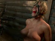 Busty Blonde Gets Tortured And Fucked With A Gag Ball In Her Mouth