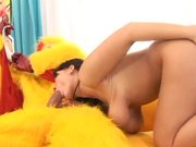Sexy Chantal Ferrara Giving a Great Blowjob to This Cock