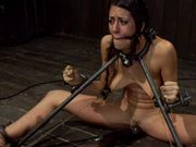 Sleazy Brunette Has Some Brutal BDSM Fun