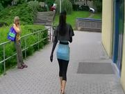 Public POV Blowjob By a Stunning and Gorgeous Brunette Euro Babe