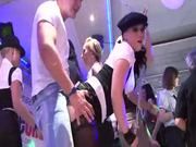 Soaked Babes Sucking Cock In Party