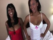 Double Chocolate Fun In A POV Threesome With Ebony Teens