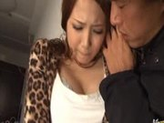 Ayaka Tomoda Gets A Serious Gangbang From Three Horny Guys