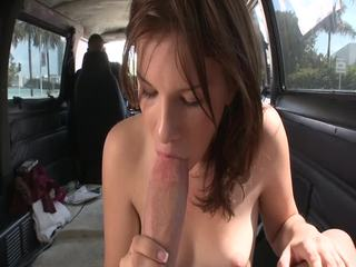 Small Tits Brunette Naughty Litto Girl Car Sex and Blowjob