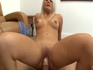 POV Blowjob With One Cute Blonde Teen