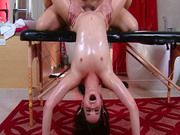 Young oiled up girl is a beauty banging hard