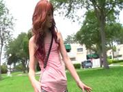 Redhead Elle Alexandra masturbates erotically