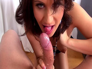 Blown by a brunette chick in the office