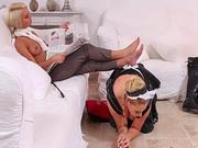 French maid and mistress make kinky porn