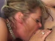Slutty cougar gets it in her mouth
