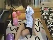 Brittany bursting pink balloons - mykinkysister
