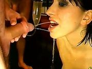 Nasty pee drinking and BJ action