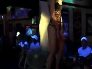 Sultry Stripper On Stage