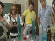 Raw chemistry with hot teacher