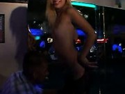 Topless Chick Teasing On Stage