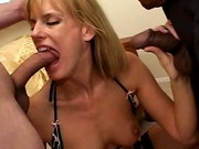 Slutty Mom Sucking Two Cocks