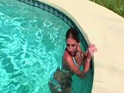 Topless Chick In The Pool