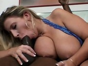 Sara Munching On A Black Cock