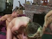 Horny Wife Takes Two Cocks