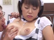 Nasty Maid Gets Her Juicy Tits Squeezed