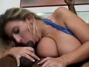 Lustful Slut Blows Black Dick