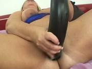Chubby needs a monster dildo