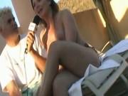 Katja Pleasures The Interviewers Cock