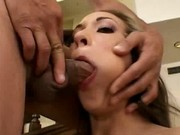 This blonde slut loves to suck cock and deepthroat
