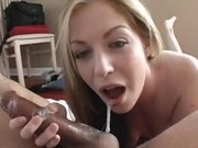 Mouth fucked blonde slut