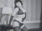 Betty Page Teasing in Lingerie