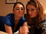 Nikita Law and Louise Jenson handjob