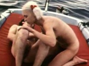 Deep hairy penetration on yacht