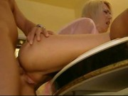 Sexy blonde giving up her ass