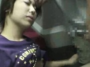 Asian teen groped & fucked on a train