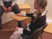 Schoolgirl is spanked by teacher